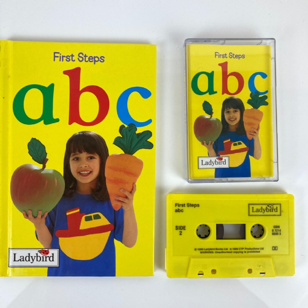 LADYBIRD First Steps ABC Book & Nursery Rhyme Audio Cassette Tape 1999